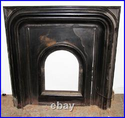Antique Fireplace Surround W Summer Door Eastlake Style Cast Iron Fire Place