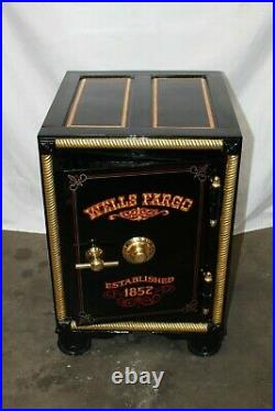 Antique Floor Model Safe Cast Iron Fully Restored with Combo Early 1900s