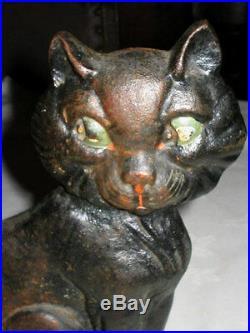 Antique Greenblatt Studios Cast Iron Cat Art Doorstop Kitten Home Studio Tool