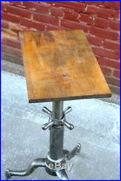 Antique Hand Crank Drafting Table, Industrial Desk, Island, Vintage typewriter