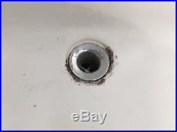 Antique Hign Back 24 Cast Iron White Porcelain Wall Mount Bath Sink Vtg 625-17E
