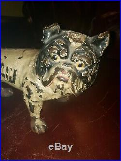 Antique Hubley Cast Iron English Bulldog Art Statue Sculpture Dog Door Doorstop