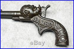 Antique Ives Cast Iron Sambo Cap Gun 1887