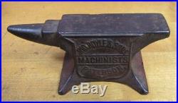 Antique JOHN ROYLE & SONS MACHINISTS PATERSON NJ Sm Cast Iron Advertising ANVIL