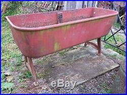 Antique J. L. Mott Cast Iron Sink 4 ft