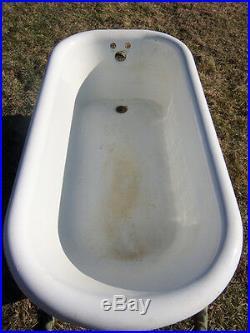 Antique Pedestal Tub, Cast Iron