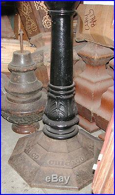 Antique Pool/Billiard/Brunswick Balke Collender Co Cast Iron Pub Table Base