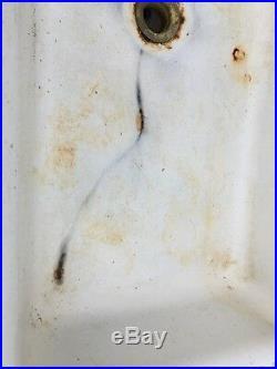 Antique Standard Sanitary Sink Highback Rolled Lip Vintage Cast Iron Sink 1909
