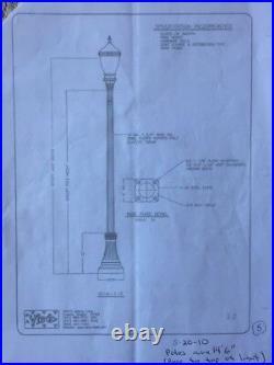 Antique Street Light Poles (single globe)