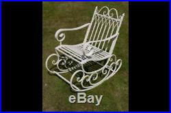 Antique Style Ornate White Outdoor Garden Patio Conservatory Sun Rocking Chair