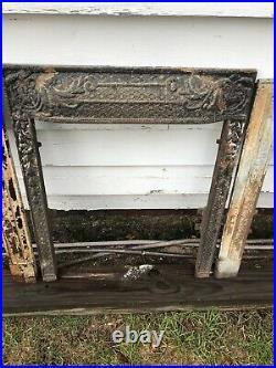 Antique Victorian Cast Iron Fireplace Surrounds
