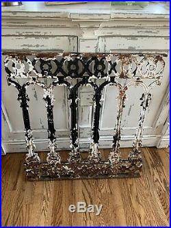Antique Victorian Cast Iron Railing Handrail Architectural Salvage Decor