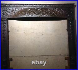 Antique Victorian Fireplace Edge Trim Summer Cover Screen Classical Cast Iron