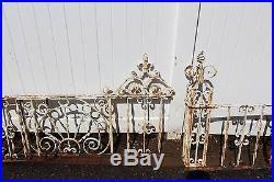 Antique Vintage Ornate Wrought Iron Fence American circa 1900s 100% original