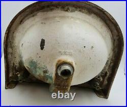 Antique Vtg Cast Iron Porcelain Bathroom Sink 2 Faucet Soap Dish 19 W 17-1/2 L