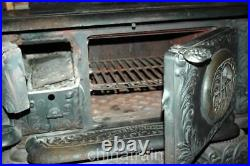 Antique Weir Glenwood 408-E Cast Iron Wood Coal Stove 1903 VG Condition