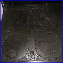 Antique Wood Burning Cook Stove Black Diamond Cast Iron Porcelain