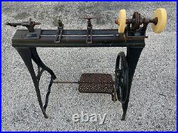 Antique Wood Treadle Lathe (The Companion) by Millers Falls Co