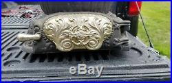 Antique cast iron S M Howes of Boston Sparkle Oak round parlor stove