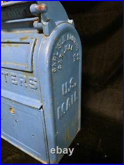 Antique cast iron mailbox US Postal carlisle foundry Carlisle PA Original 1931