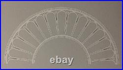 Art Deco-ceiling Medallion-chandelier-antique-vintage-cast Iron-huge 61 Dia