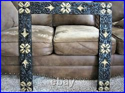 Art Nouveau Cast Iron Fireplace Surround Victorian Insert Cover Frame Salvage