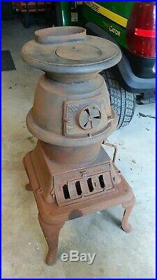 Atlanta stove works cast iron pot belly stove