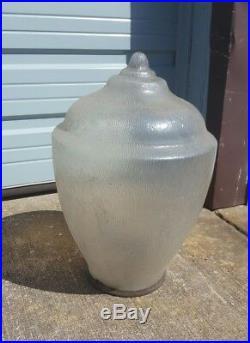 Beautiful 13' Cast Iron Street Light Glass Globe Architectural Salvage Lighting