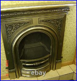 Beautiful Polished Cast Iron Mantel for Small Fireplace