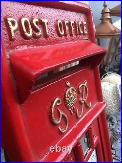 British Royal Mail GR VI Cast Iron Post Box Front Post Office Box Fascia
