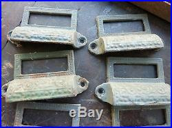C1880 LOT 10 matching authentic VICTORIAN cabinet pull hardware 2 7/8 on holes