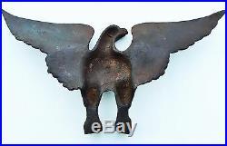 C. 1750-1795. Federal American Folk Art Antique Primitive Cast Iron Bald Eagle