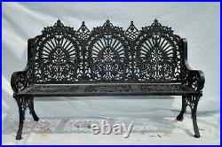 Cast Iron Bench Garden Large and Stately Victorian Inspired #10441
