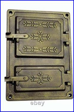 Cast Iron Fire Door Clay Bread Oven Pizza Stove Smoke House Furnace Black 37x27