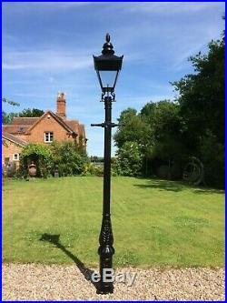 Cast Iron Lamp Post 3.3 m tall & Black Victorian lantern street light