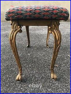 Classic Ornate Antique W. H. Howell Cast Iron Piano/ Vanity Bench
