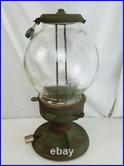 Columbus Star Cast Iron Gumball peanut Machine 16 antique vintage neat
