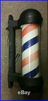 Early Koken Model #5171 Cast Iron Illuminated Rotating Barber Pole