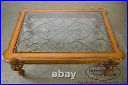 Ethan Allen Devereaux Tuscan Style Coffee Table (B)