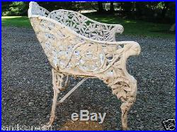 Fine Coalbrookdale Antique Cast Iron'PASSION FLOWER' Victorian Bench RARE ITEM
