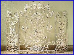 Fireplace Screens Chenonceau Decorative Fire Screen Antique Ivory