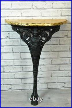 Hall Telephone Lamp Console Table Black and Gold Vintage Britannia Cast Iron