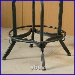 Hartley Naturally Antique Fir Wood Adjustable Barstool With Backrest