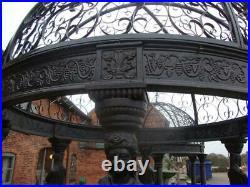 Huge Cast Iron Gazebo Architectural Lady Columns 4m High x 3m Diameter