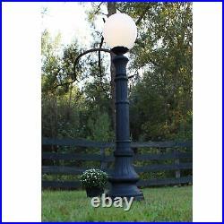 Indoor Outdoor Walkway Post Pole Light Fixture Antique Cast Iron Style Replica