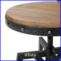 Jutte Black Brush Silver Firwood Smooth Back Adjustable Bar Stool