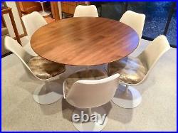 KNOLL, TULIP DINING TABLE, Eero Saarinen (1st Edition Cast-Iron, RESTORED)