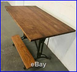 Keuffel & Esser Co #16535 Cast Iron Industrial Drafting Table
