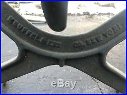 Keuffel & Esser Co Cast Iron Industrial Drafting Table Base. Will Ship