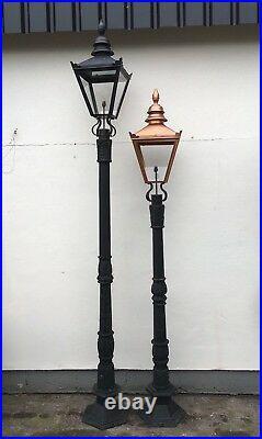 Large Cast Iron Lamp Post Garden Lamp Street Light Copper Colour Lantern 3.15m